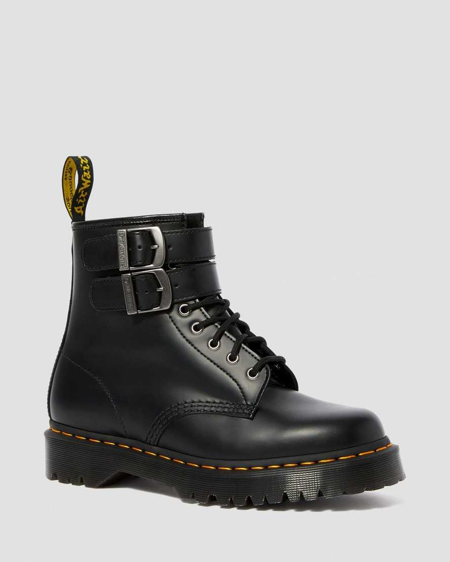 1460 SMOOTH LEATHER BUCKLE BOOTS | Dr Martens