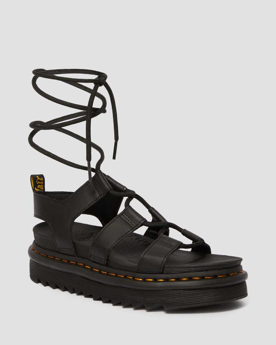 Nartilla Lace Up Leather Sandals Dr Martens Uk