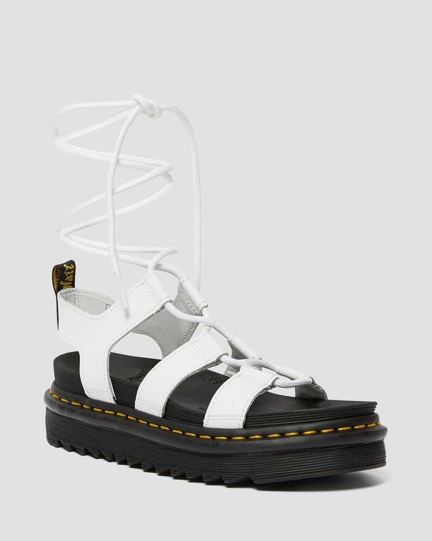 Nartilla Women's Leather Gladiator Sandals   Dr Martens