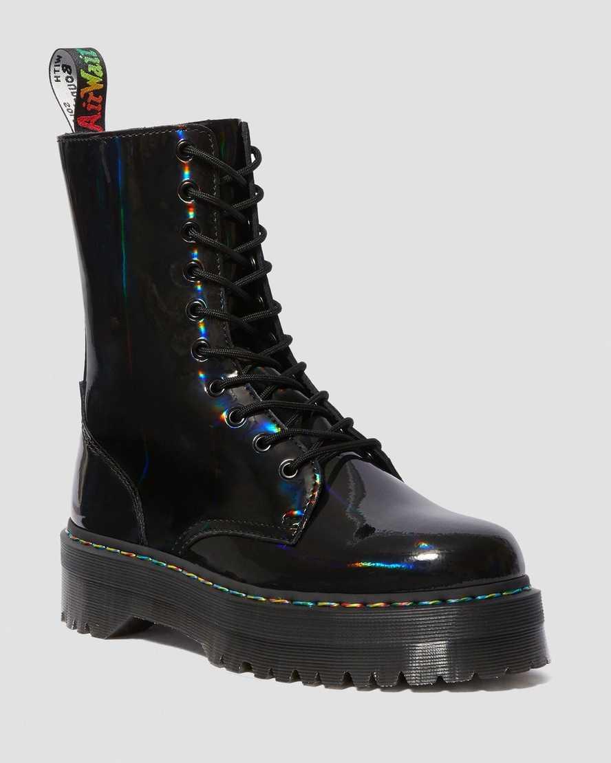arrives skate shoes hot products DR MARTENS JADON HI RAINBOW PATENT