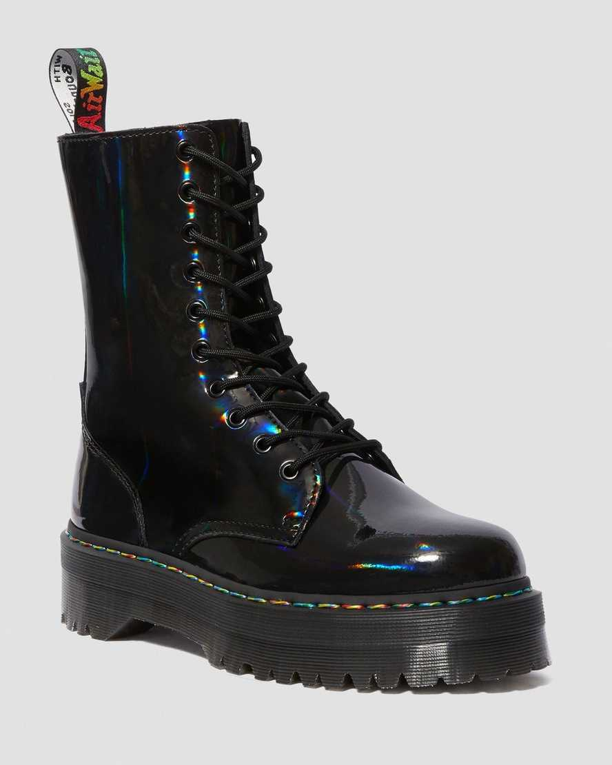 Jadon Hi Rainbow Patent Platform Boots | Dr Martens