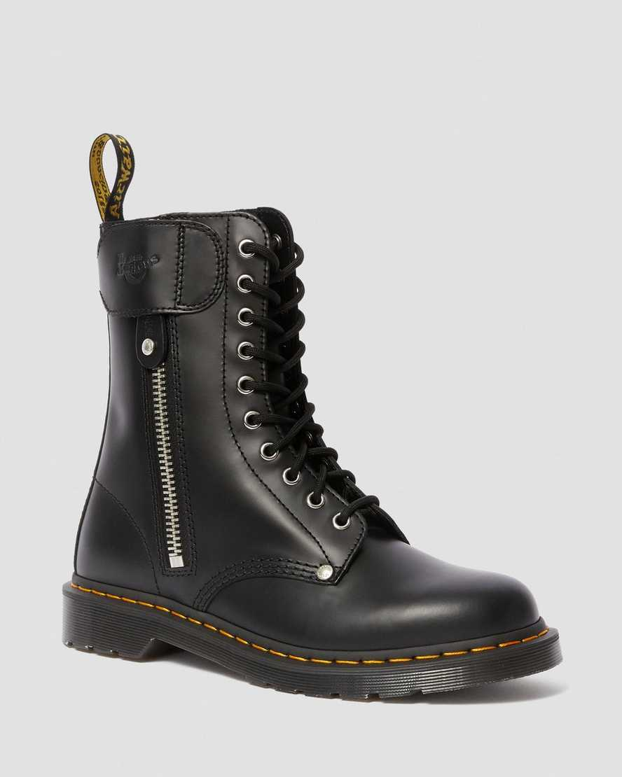 1490 SCHOTT SMOOTH LEATHER HIGH BOOTS | Dr Martens