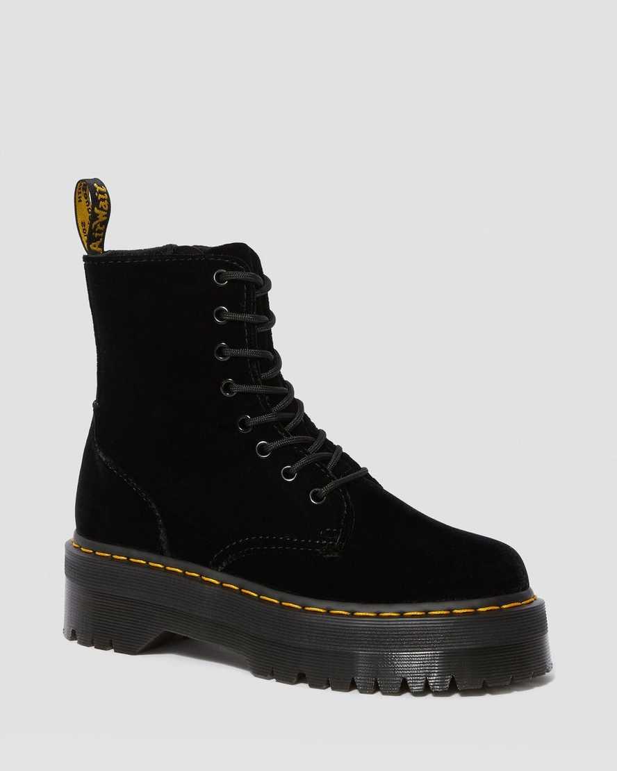 Boots Plateformes Jadon en velours | Dr Martens