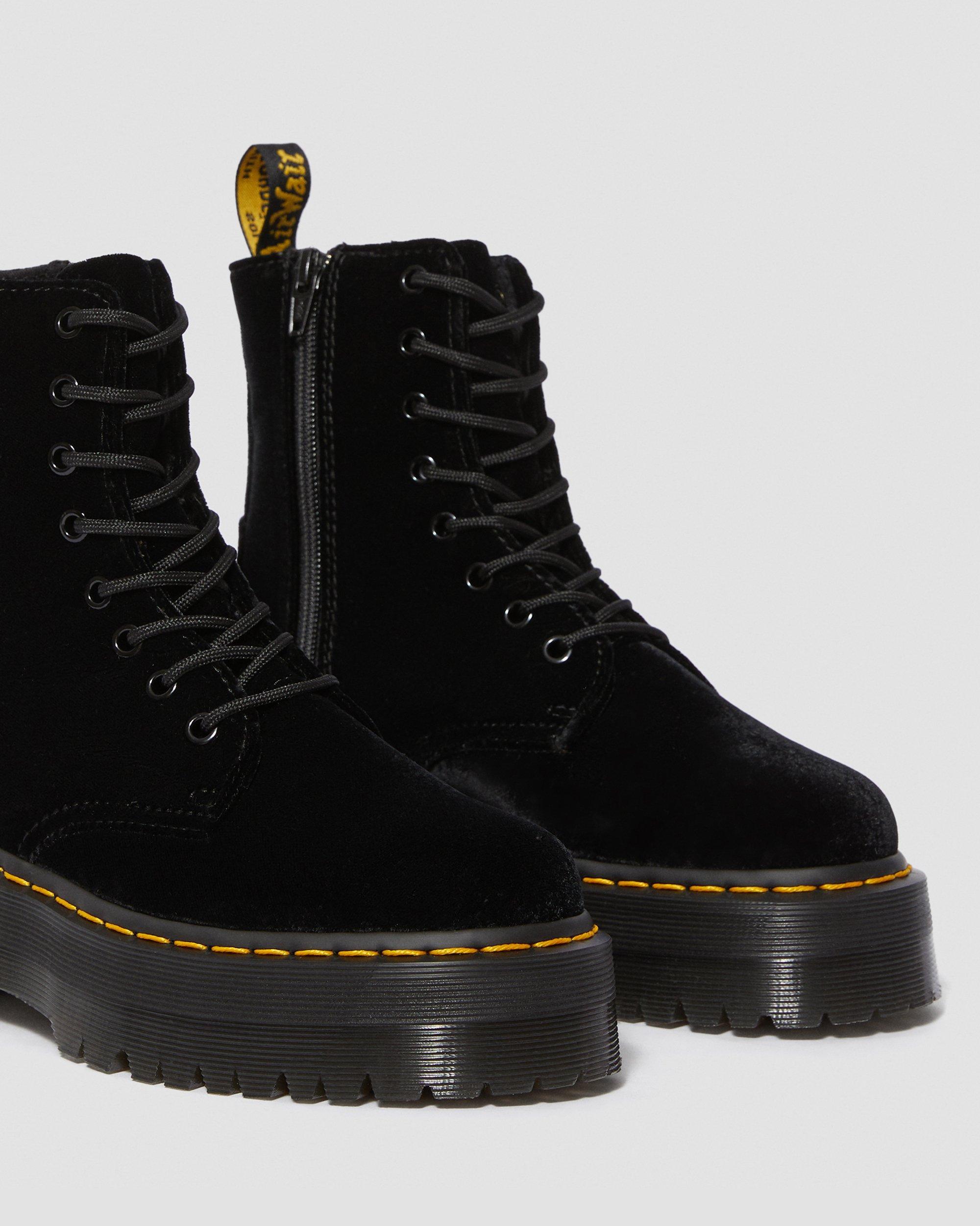 Jadon Velvet Platform Boots | Dr