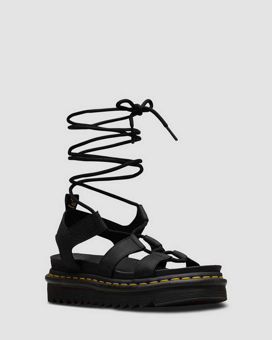 NARTILLA GRIZZLY LACE UP LEATHER SANDALS | Dr Martens