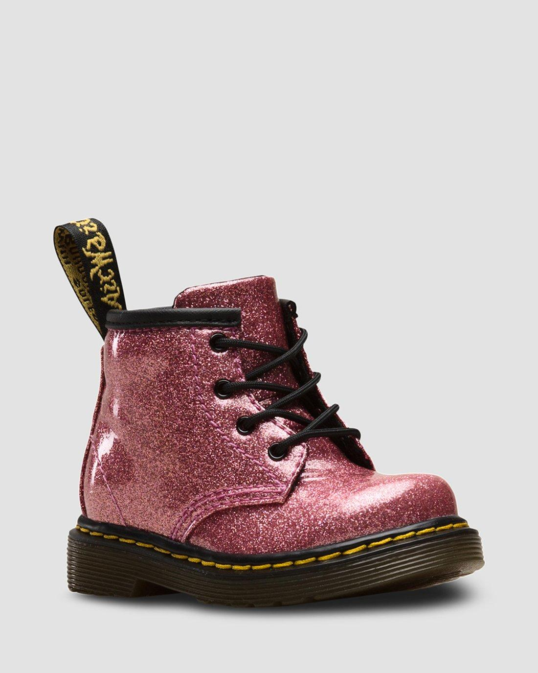 INFANT 1460 GLITTER LACE UP BOOTS   Dr