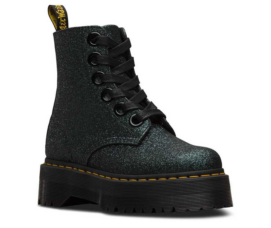 102a72da5779 MOLLY GLITTER | Black and White Shoes & Boots | Dr. Martens Official