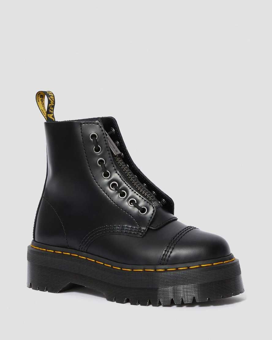 Sinclair Smooth  Women's Leather Platform Boots | Dr Martens