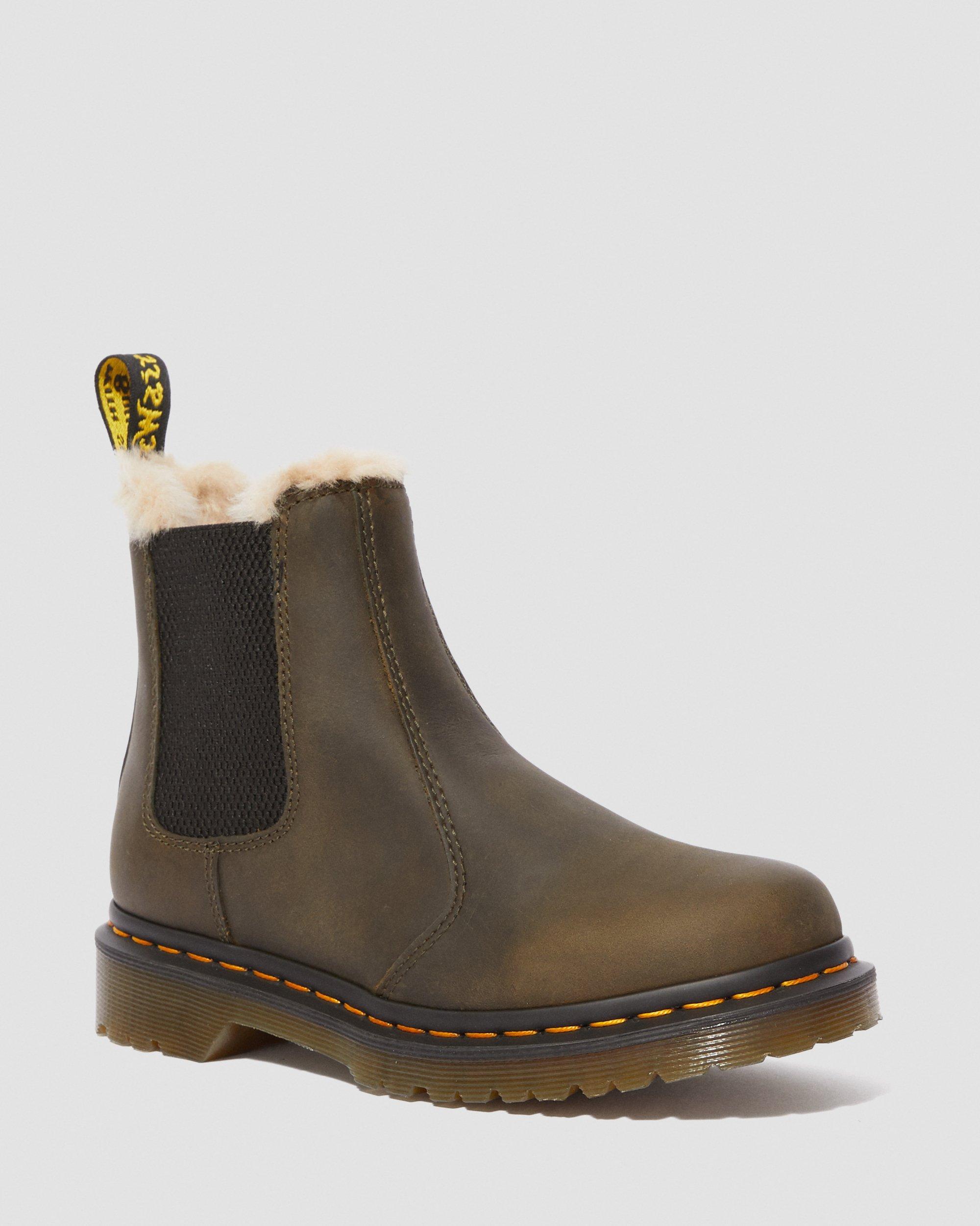 Dr. Martens FUR LINED 1460 SERENA ORLEANS Damen Stiefel Boots Schuhe Braun, Größe:37