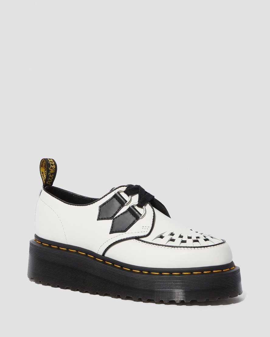 Sidney Leather Creeper Platform Shoes | Dr Martens