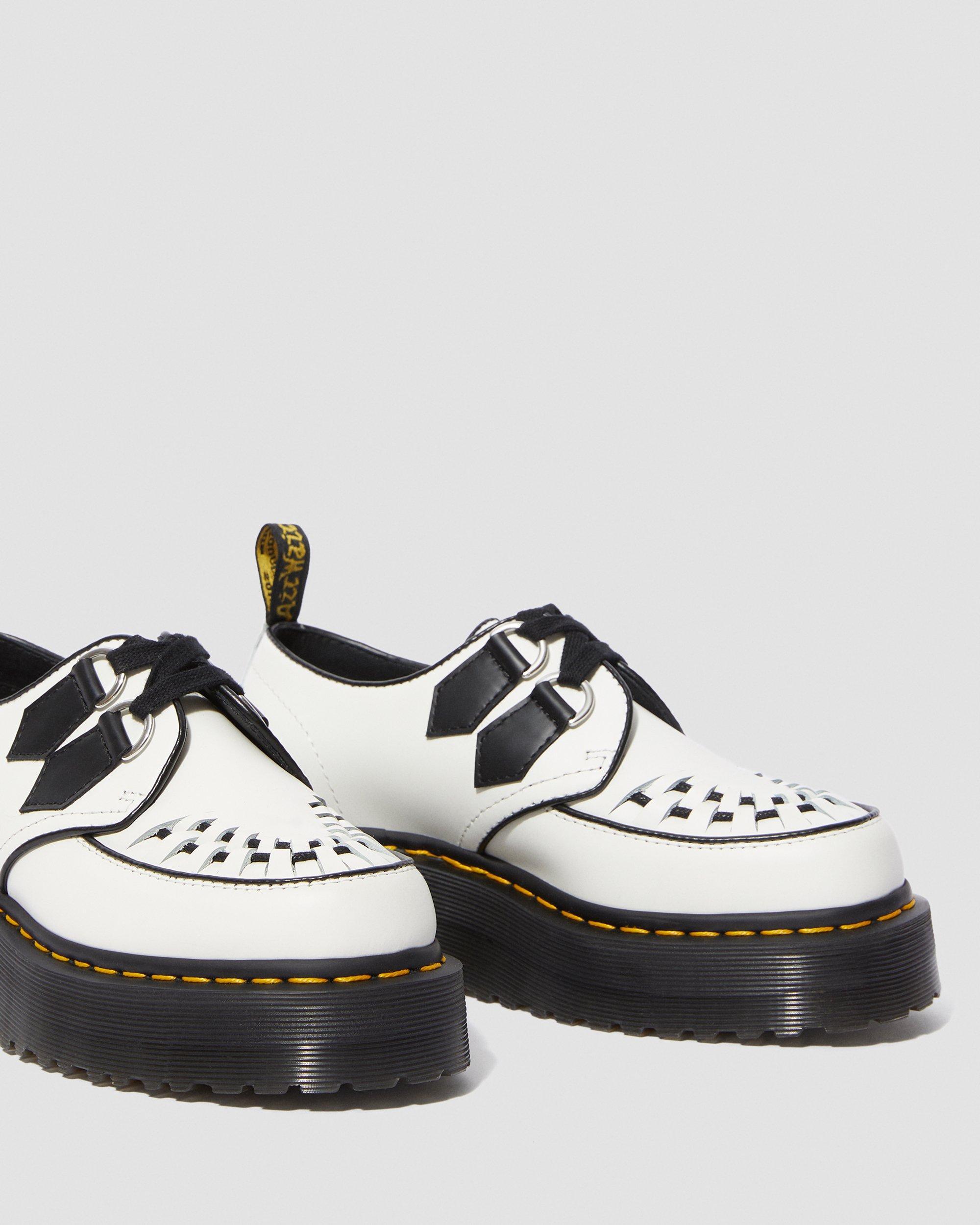 platform doc martens white
