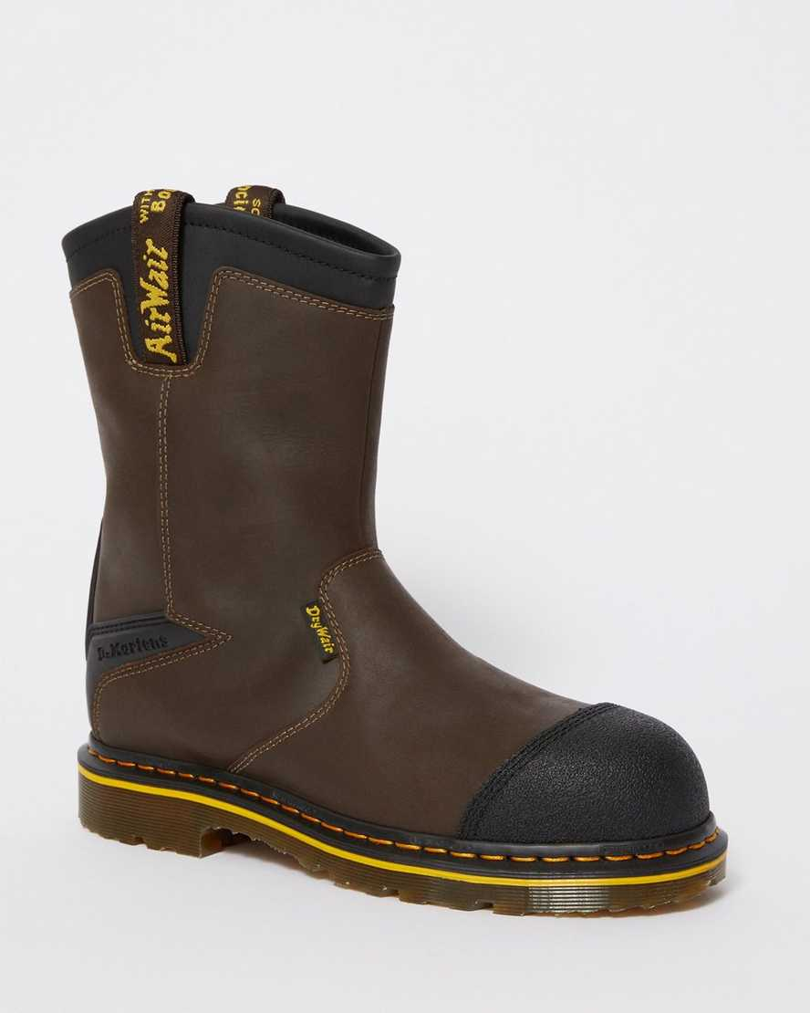 Firth Waterproof Leather Steel Toe Work Boots   Dr Martens
