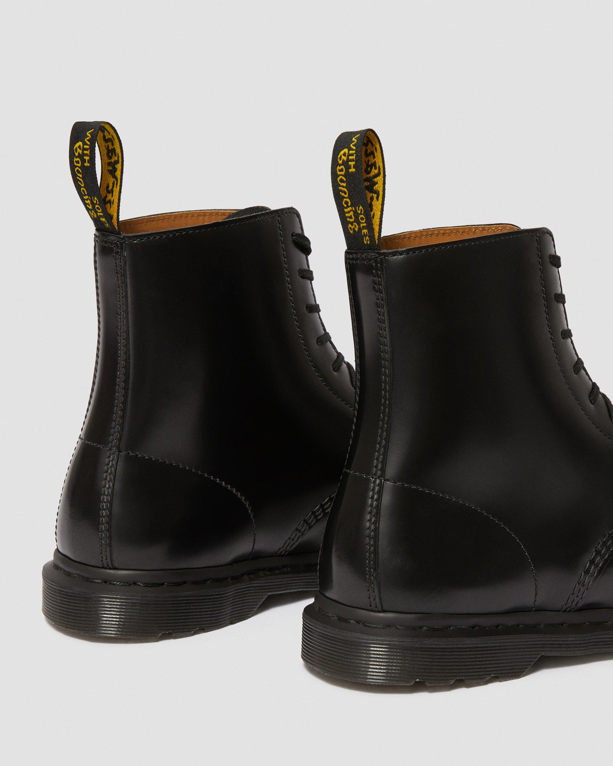 Dr. Martens Men's Winchester Black Polished Smooth Boots