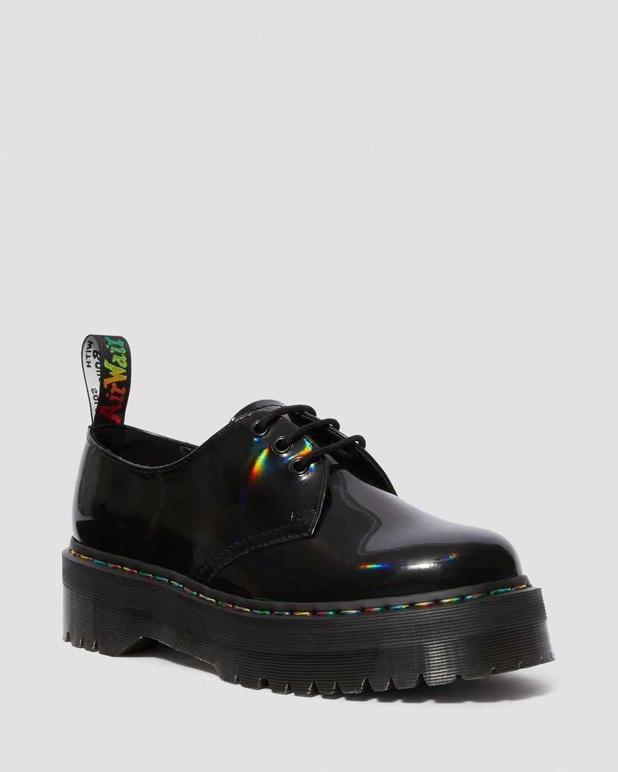insulto caldera fiabilidad  Zapatos de Charol con Plataforma 1461 Quad Rainbow | Dr. Martens España