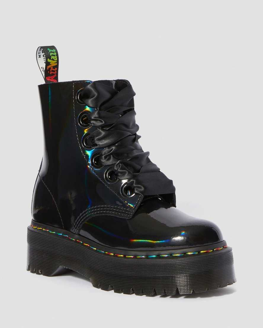 Molly Rainbow Patent Women S Boots Dr Martens Official