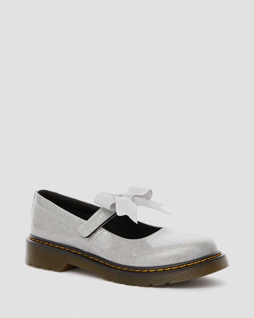 Junior Maccy II Glitter Mary Jane Shoes | Dr Martens