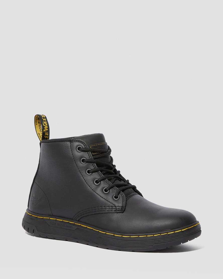 AMWELL SLIP RESISTANT LEATHER LACE UP BOOTS | Dr Martens