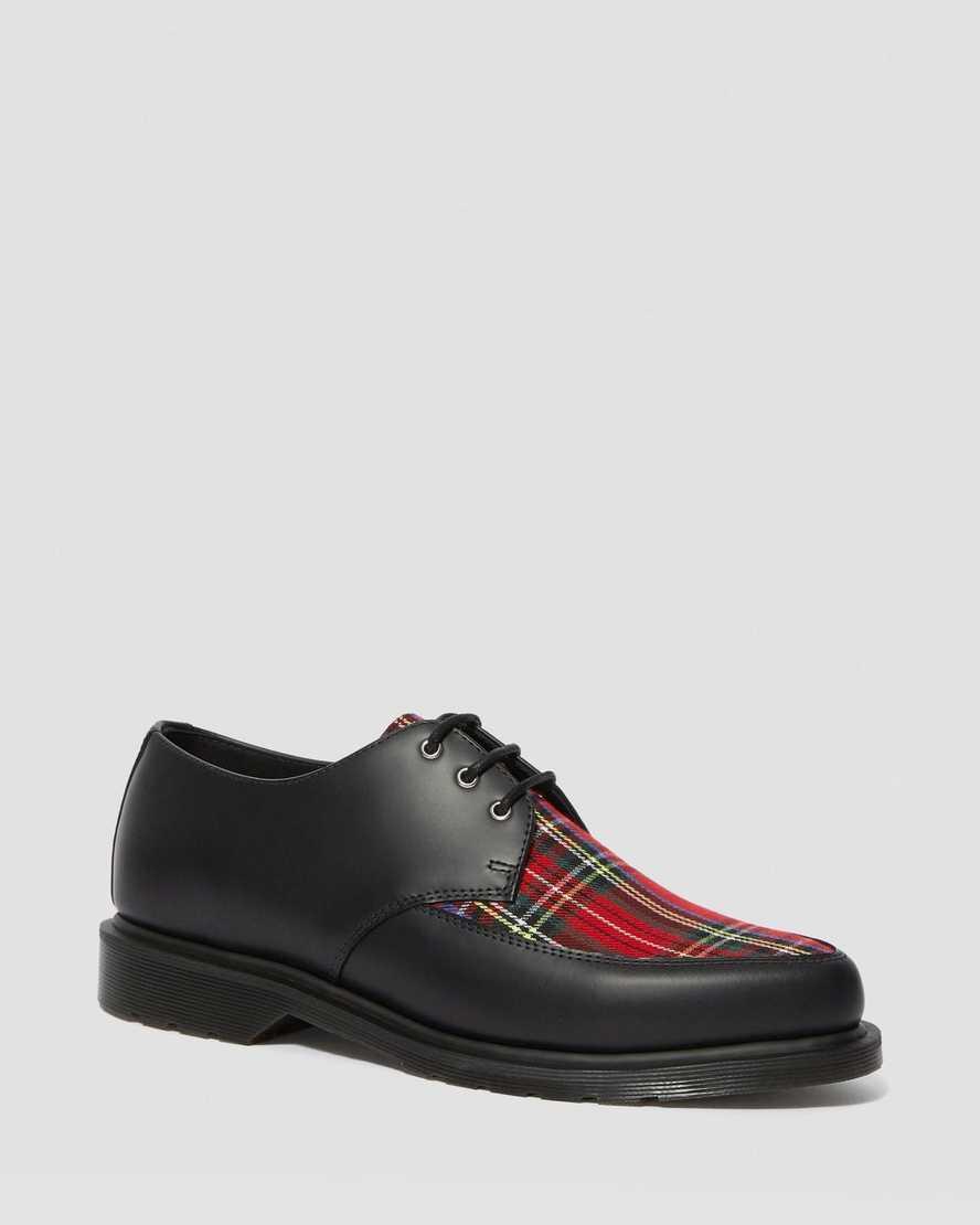 Willis Tartan Lace Up Shoes   Dr Martens