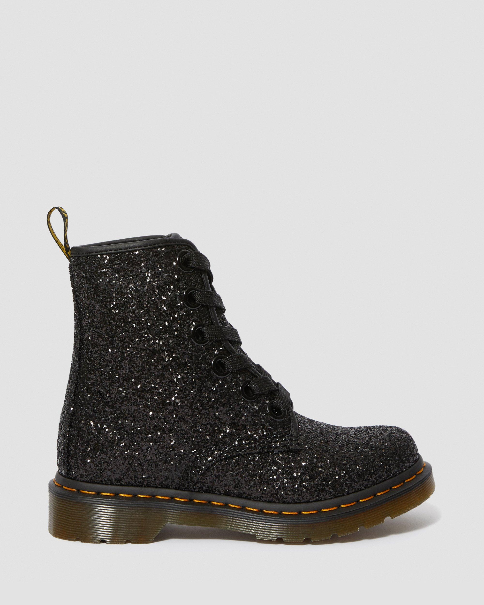 CHUNKY GLITTER LACE UP BOOTS
