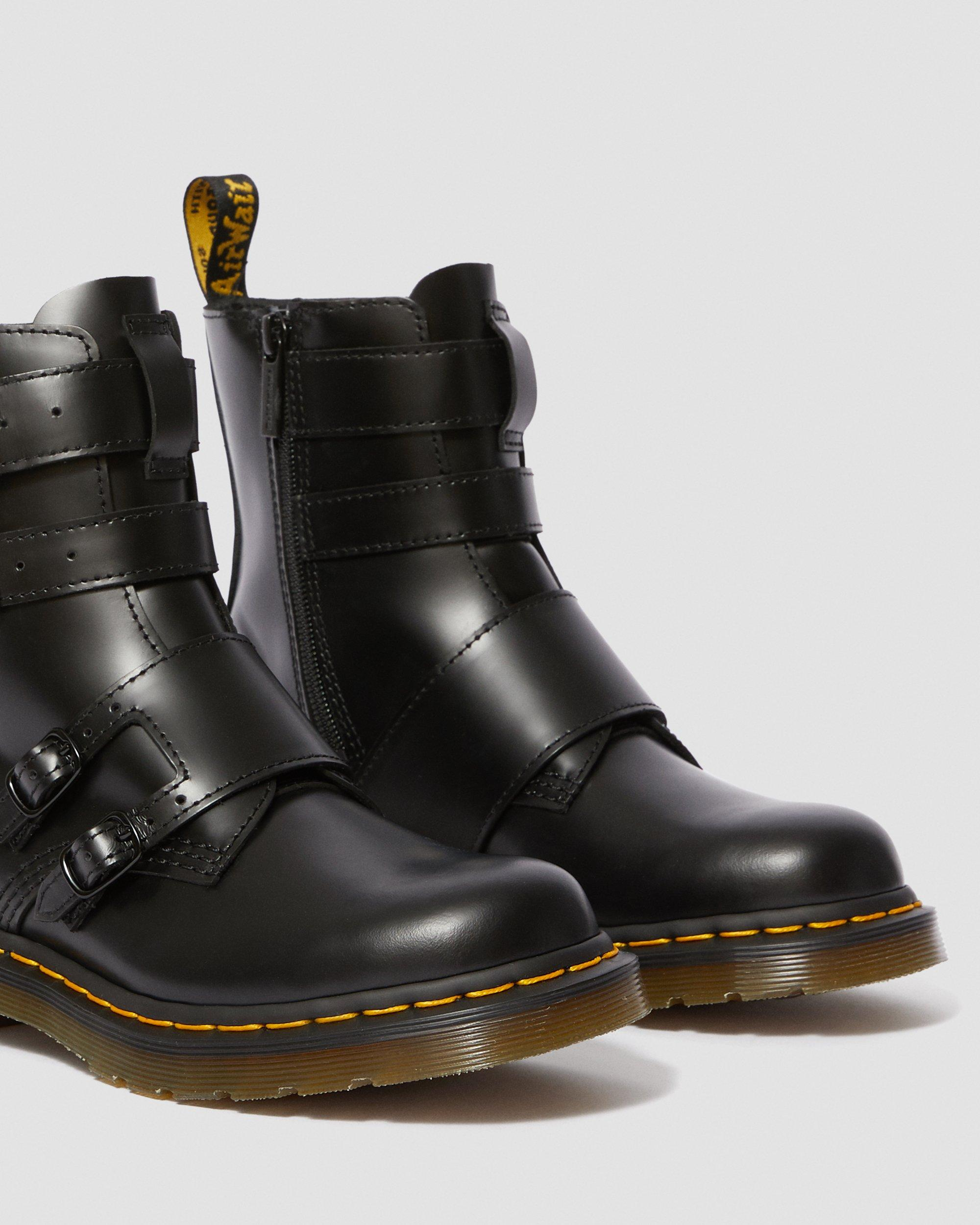 Dr martens blake ii leather buckle boots | Bottes, Cuir