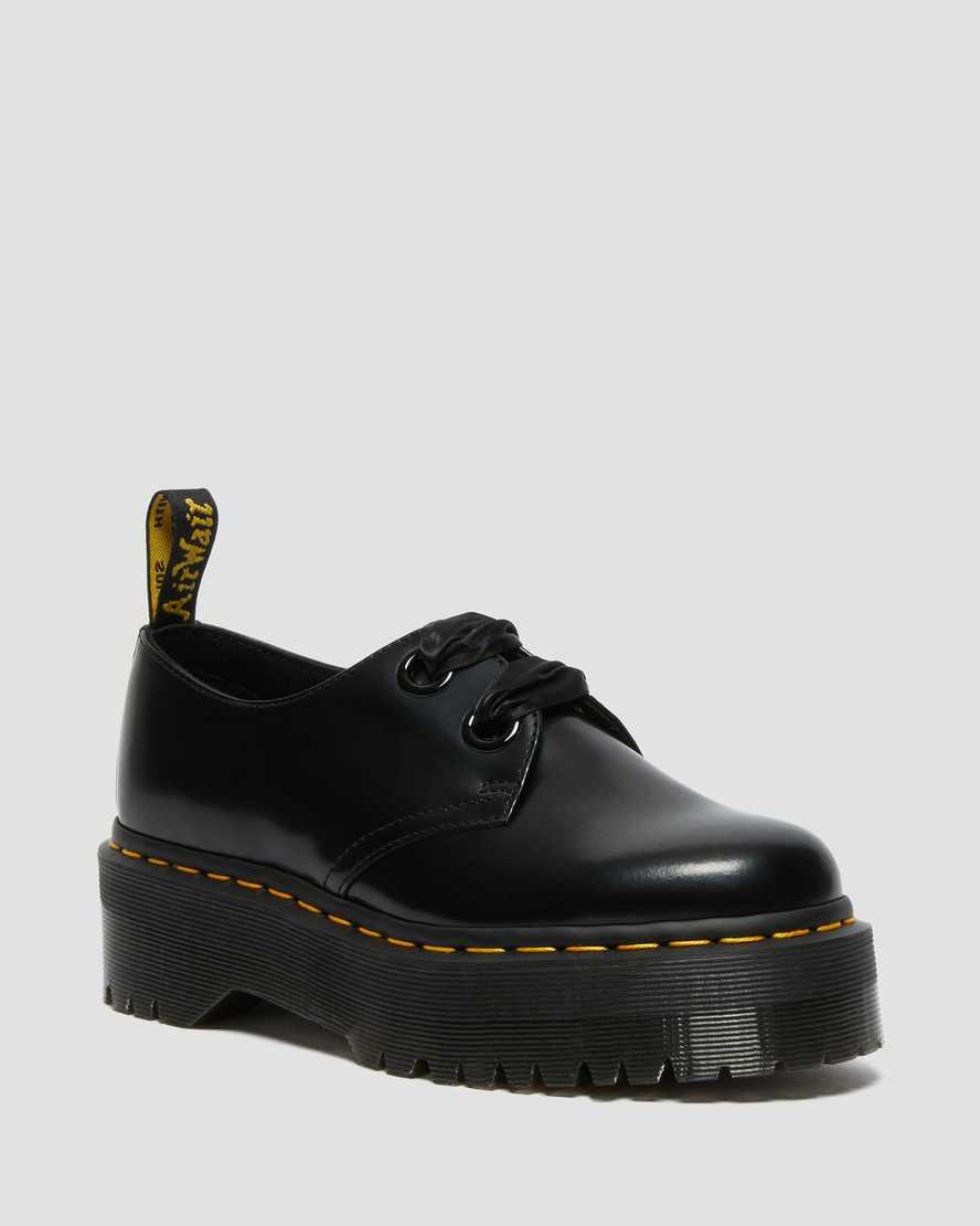 Holly Leder Plateau Schuhe | Dr Martens