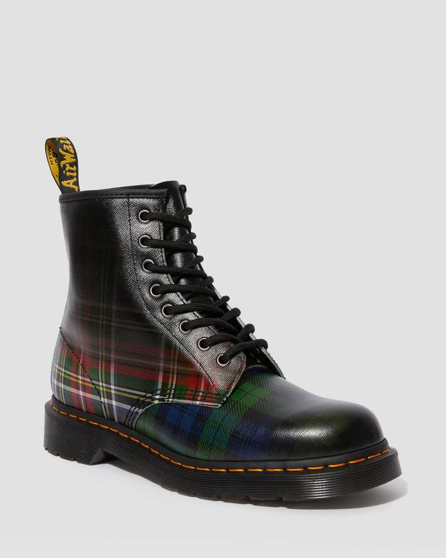 1460 Tartan Leather Lace Up Boots | Dr Martens