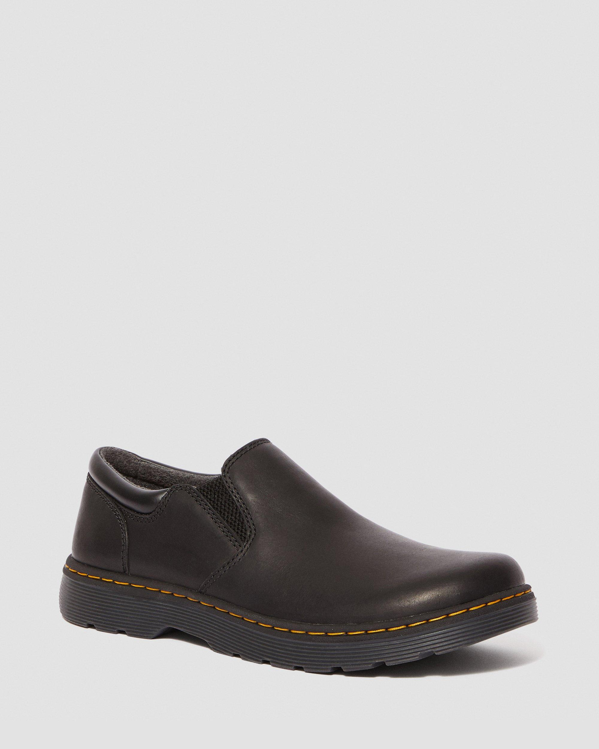 TIPTON LEATHER SLIP ON SHOES | Dr