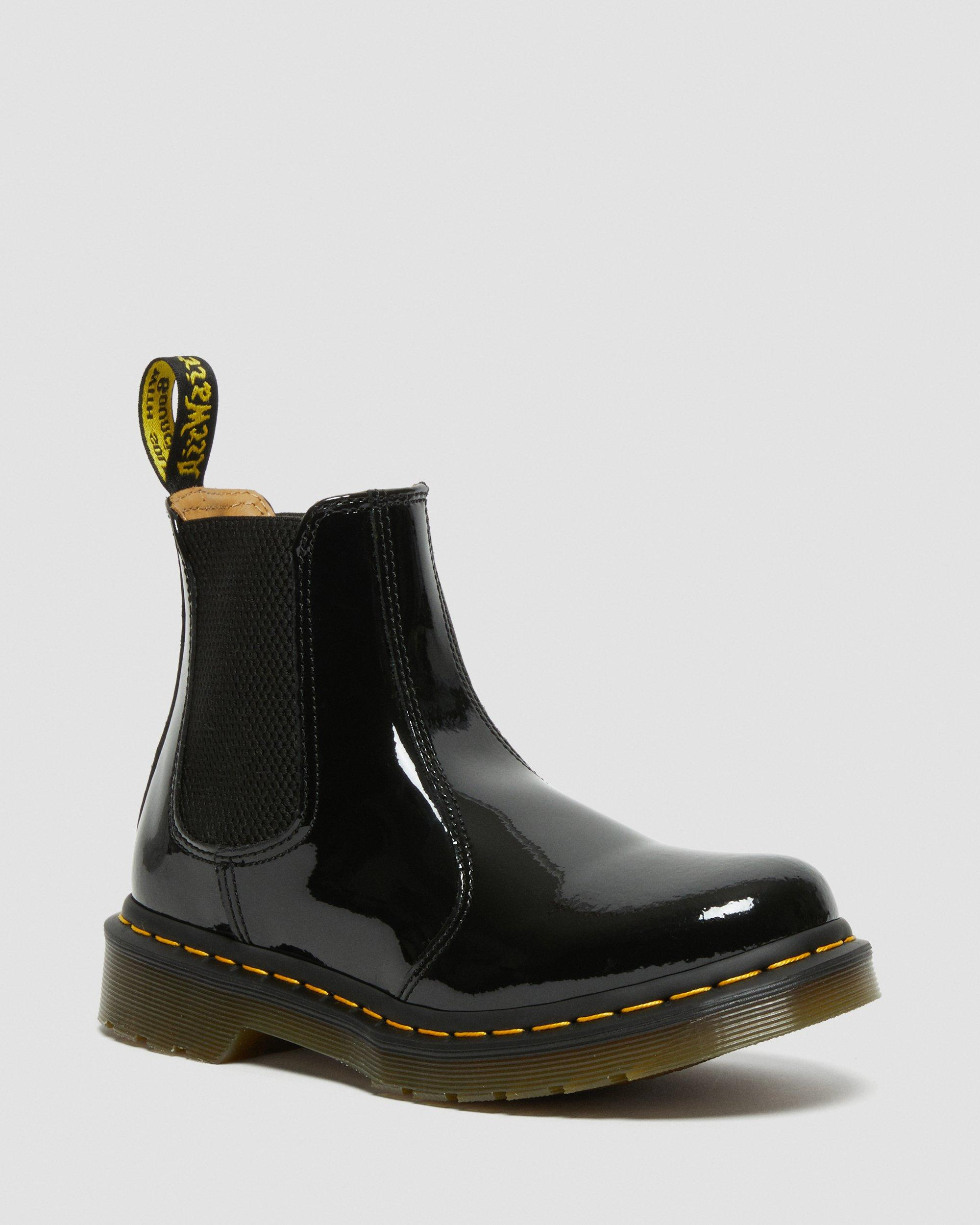 DR MARTENS 2976 WOMEN'S PATENT LEATHER CHELSEA BOOTS