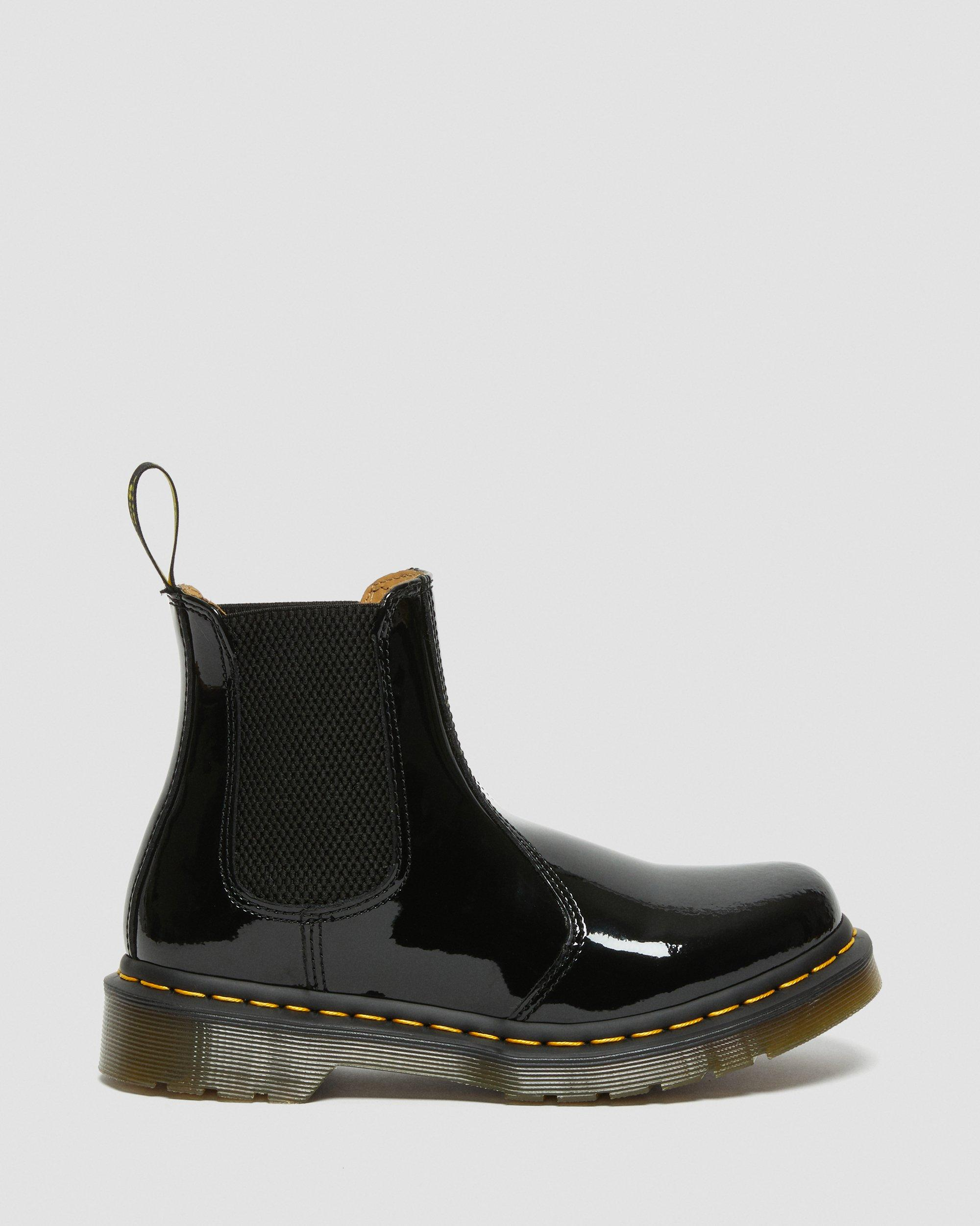 2976 PATENT LEATHER CHELSEA BOOTS | Dr