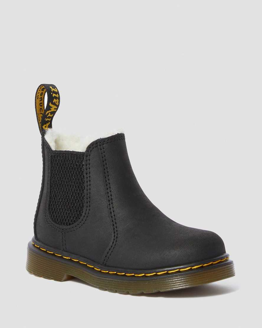 TODDLER FUR-LINED 2976 LEONORE CHELSEA BOOTS | Dr Martens