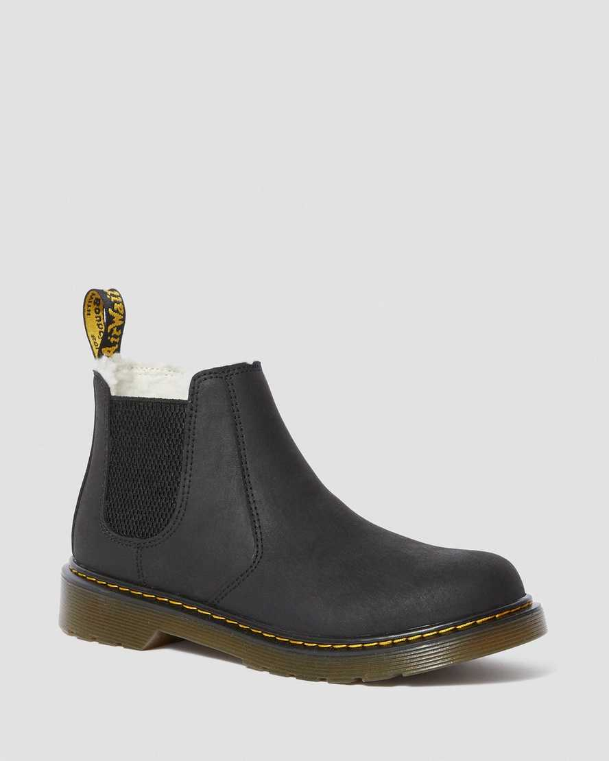 YOUTH FUR-LINED 2976 LEONORE CHELSEA BOOTS | Dr Martens