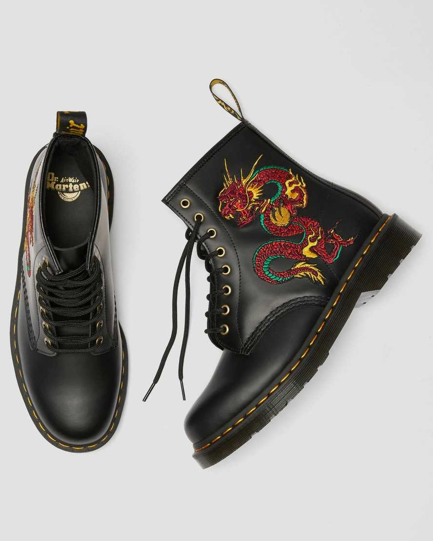 1460 Dragon Embroidered Boots Dr Martens Uk
