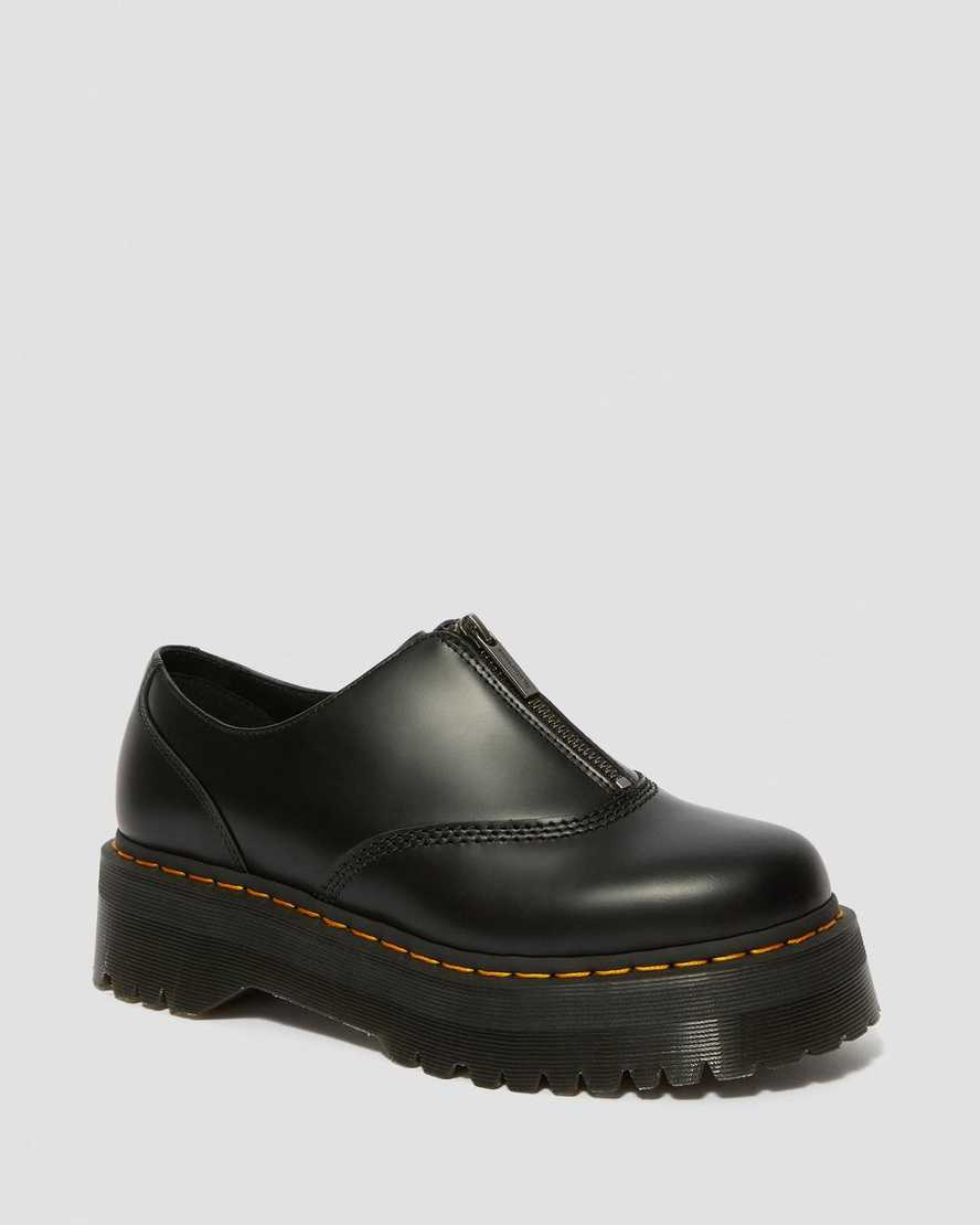 Aurian II Smooth Leather Platform Shoes | Dr Martens