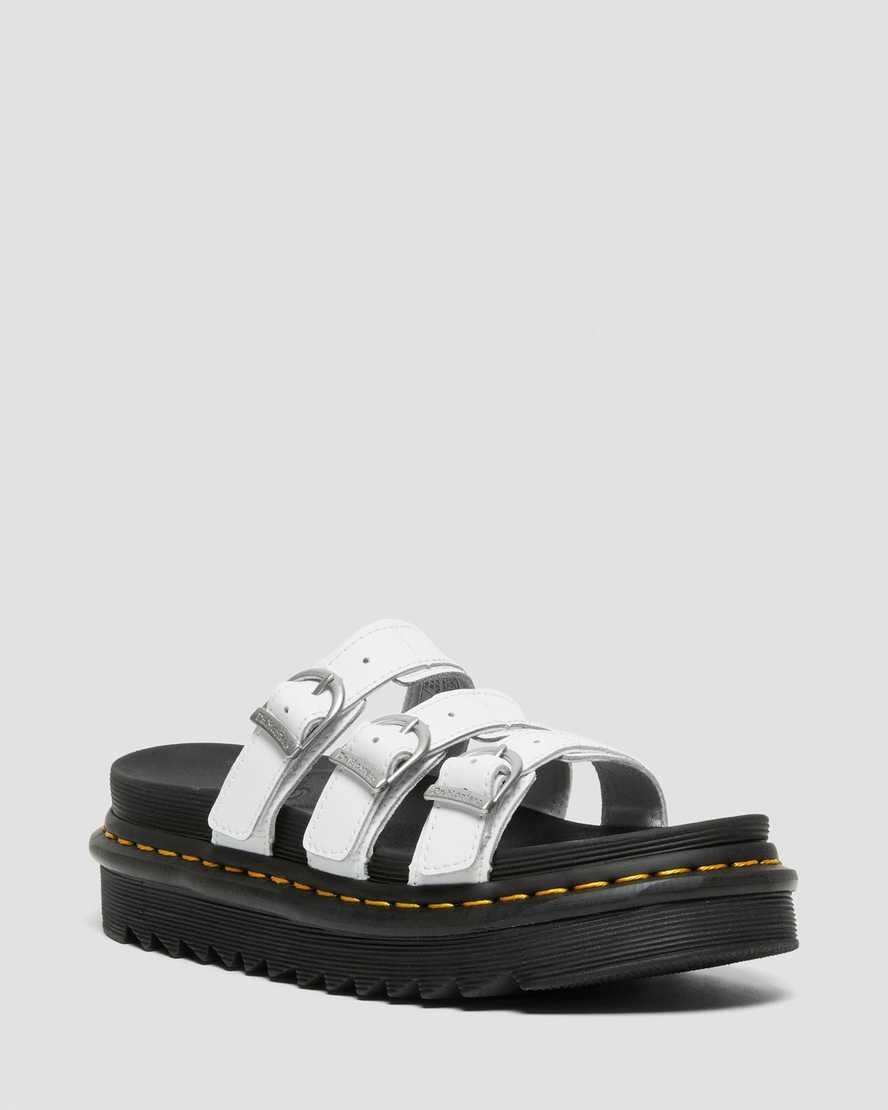Blaire Leather Slide Sandals | Dr Martens
