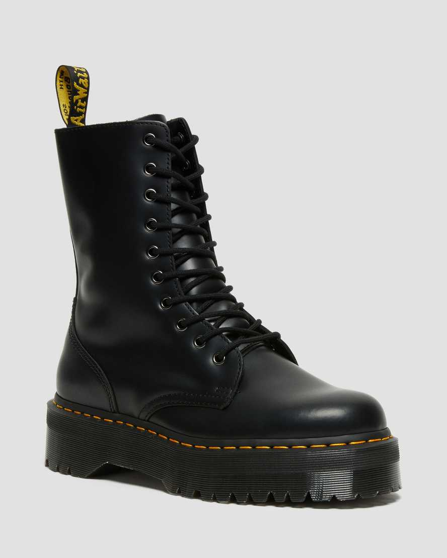 DR MARTENS JADON HI SMOOTH LEATHER PLATFORM BOOTS
