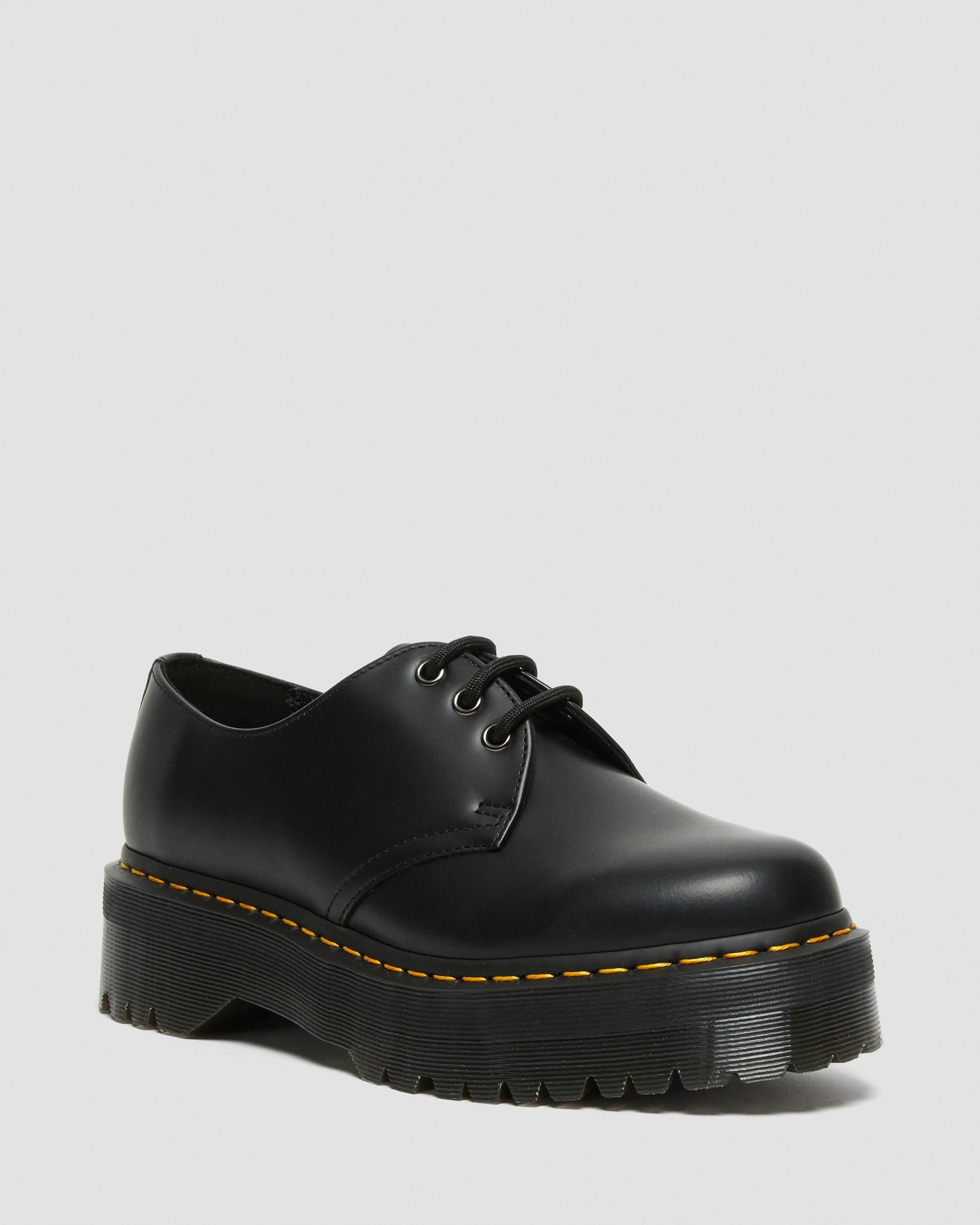DR MARTENS 1461 SMOOTH LEATHER PLATFORM SHOES