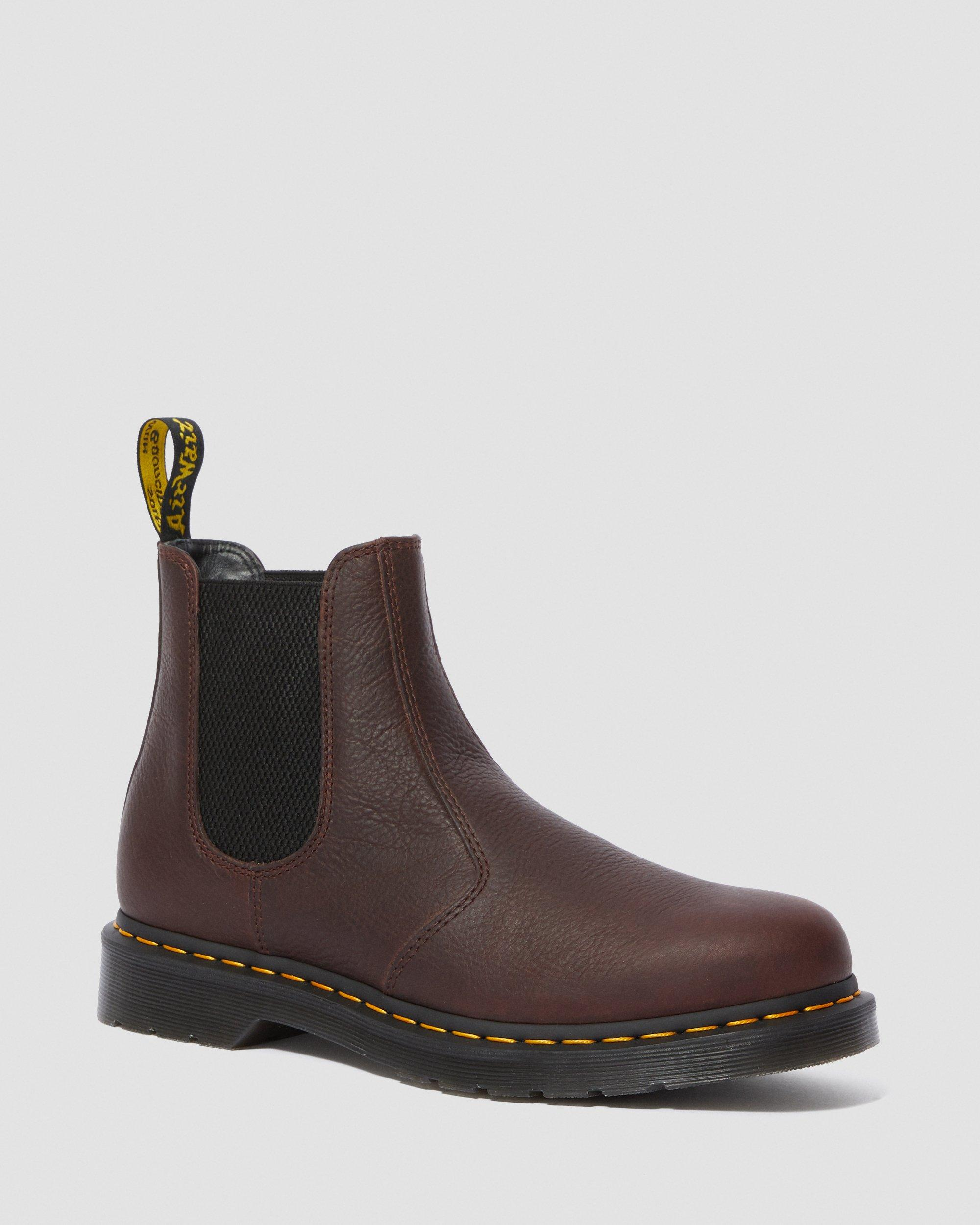 MARTENS Air Wair 2976 Docs Chelsea Boots Cherry Red DR Vegan Stiefel.Rot