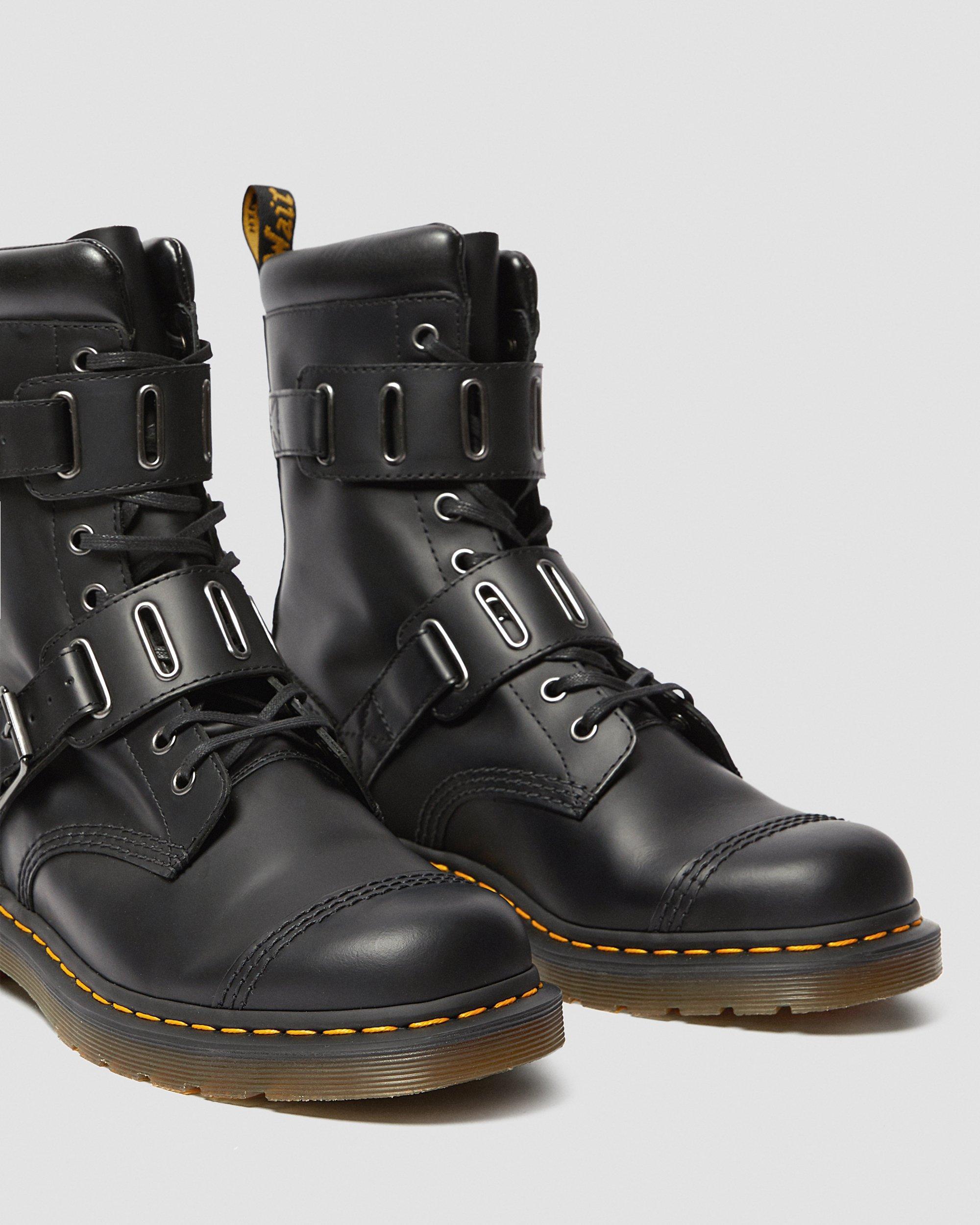 DR MARTENS Boots Quynn en cuir à boucles