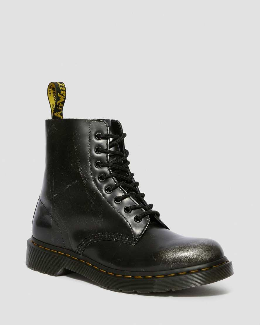 1460 PASCAL METALLIC LEATHER LACE UP BOOTS   Dr Martens