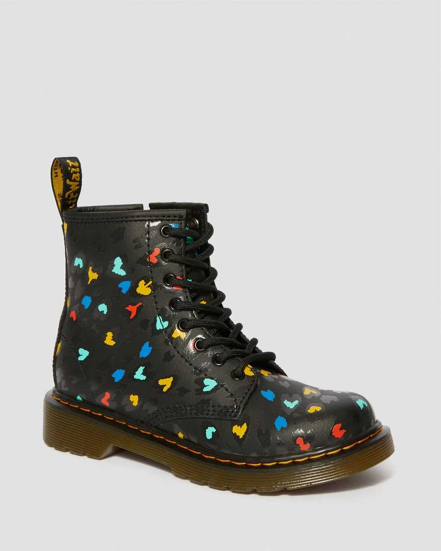 Junior 1460 Leather Heart Printed Lace Up Boots | Dr Martens