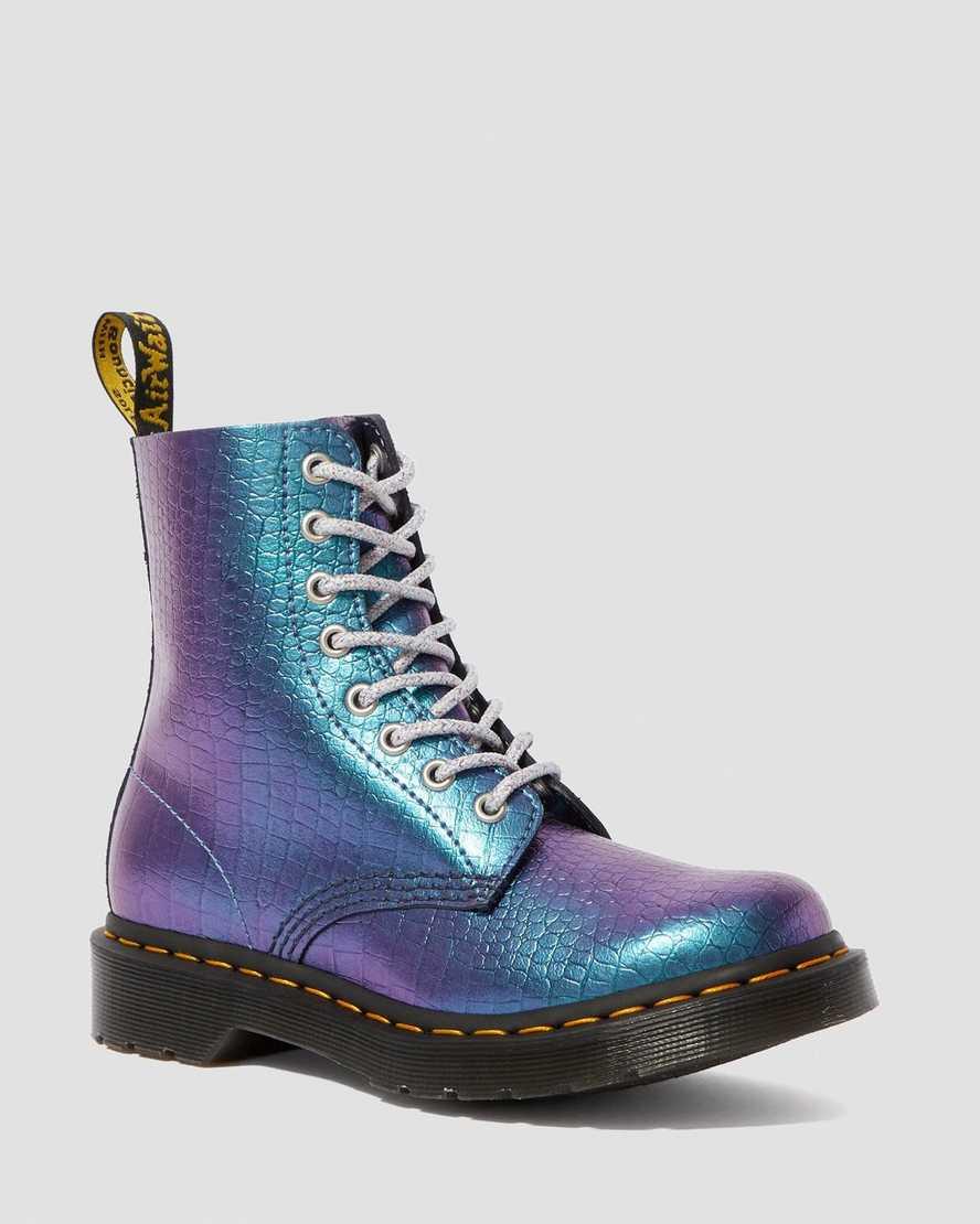 1460 Iridescent Croc Boots | Dr Martens