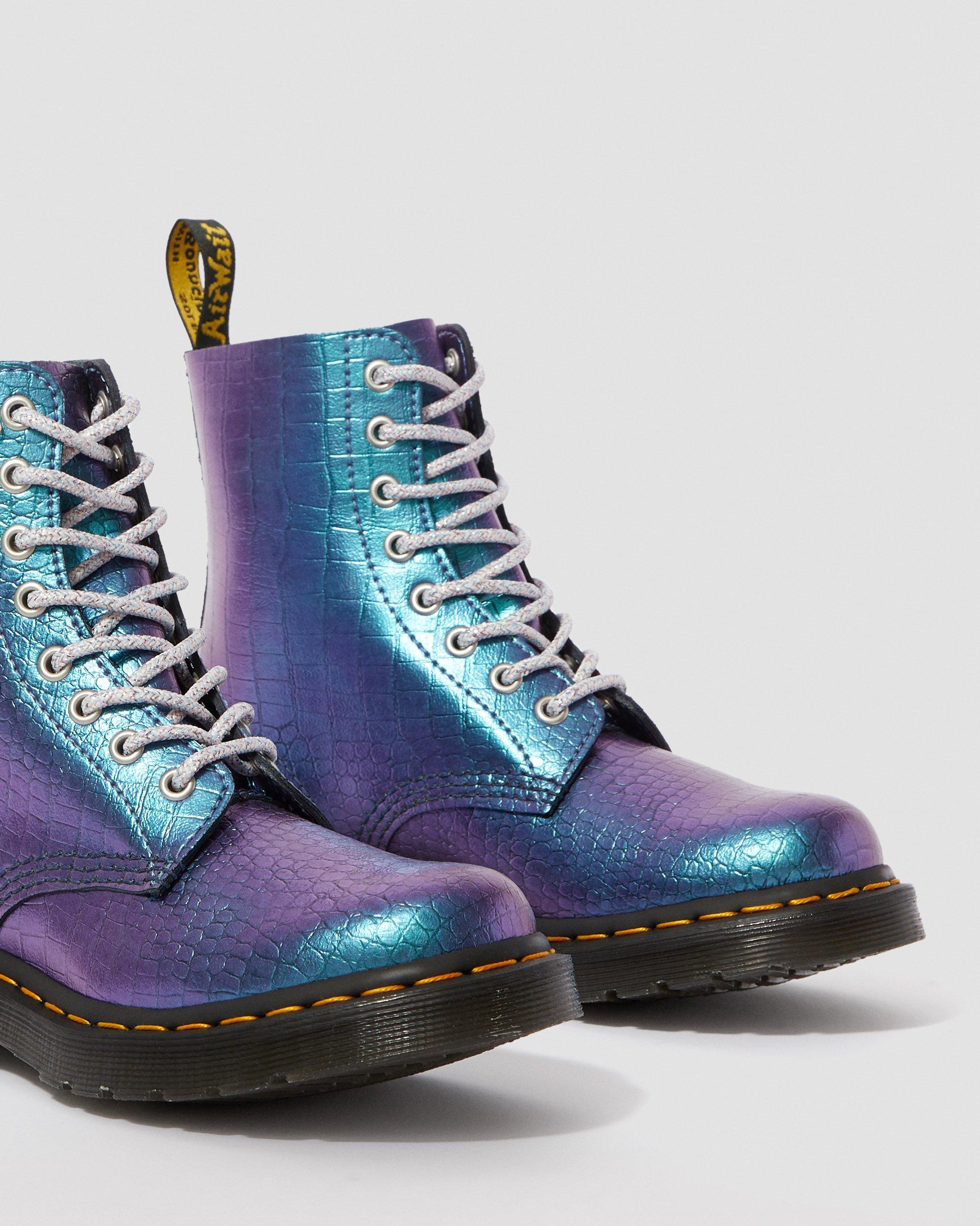 1460 Iridescent Croc Boots   Dr. Martens UK