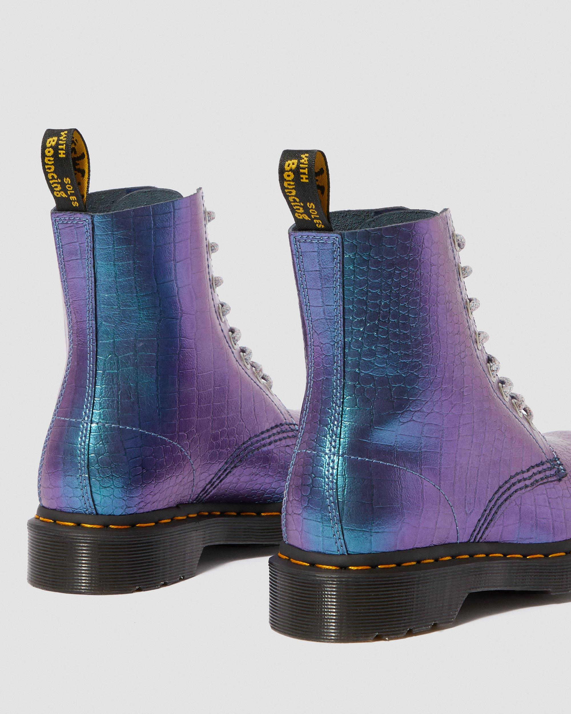 Dr martens 1460 pascal metallic crocodile leather boots