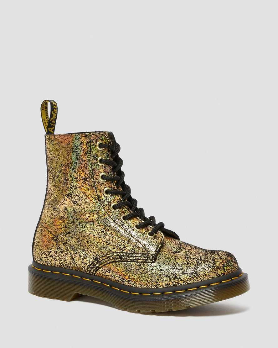 1460 PASCAL METALLIC LEATHER LACE UP BOOTS | Dr Martens