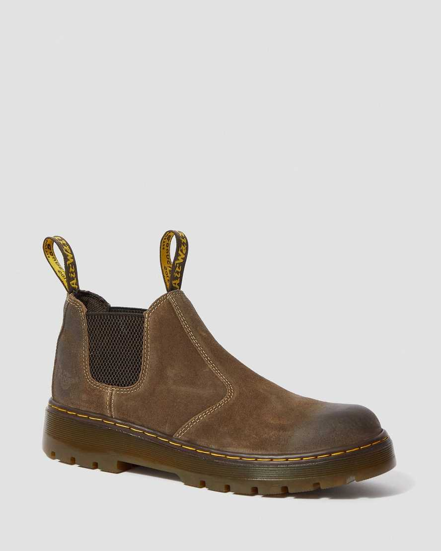 cheaper sale sells big discount DR MARTENS HARDIE WAXY SUEDE CHELSEA BOOTS