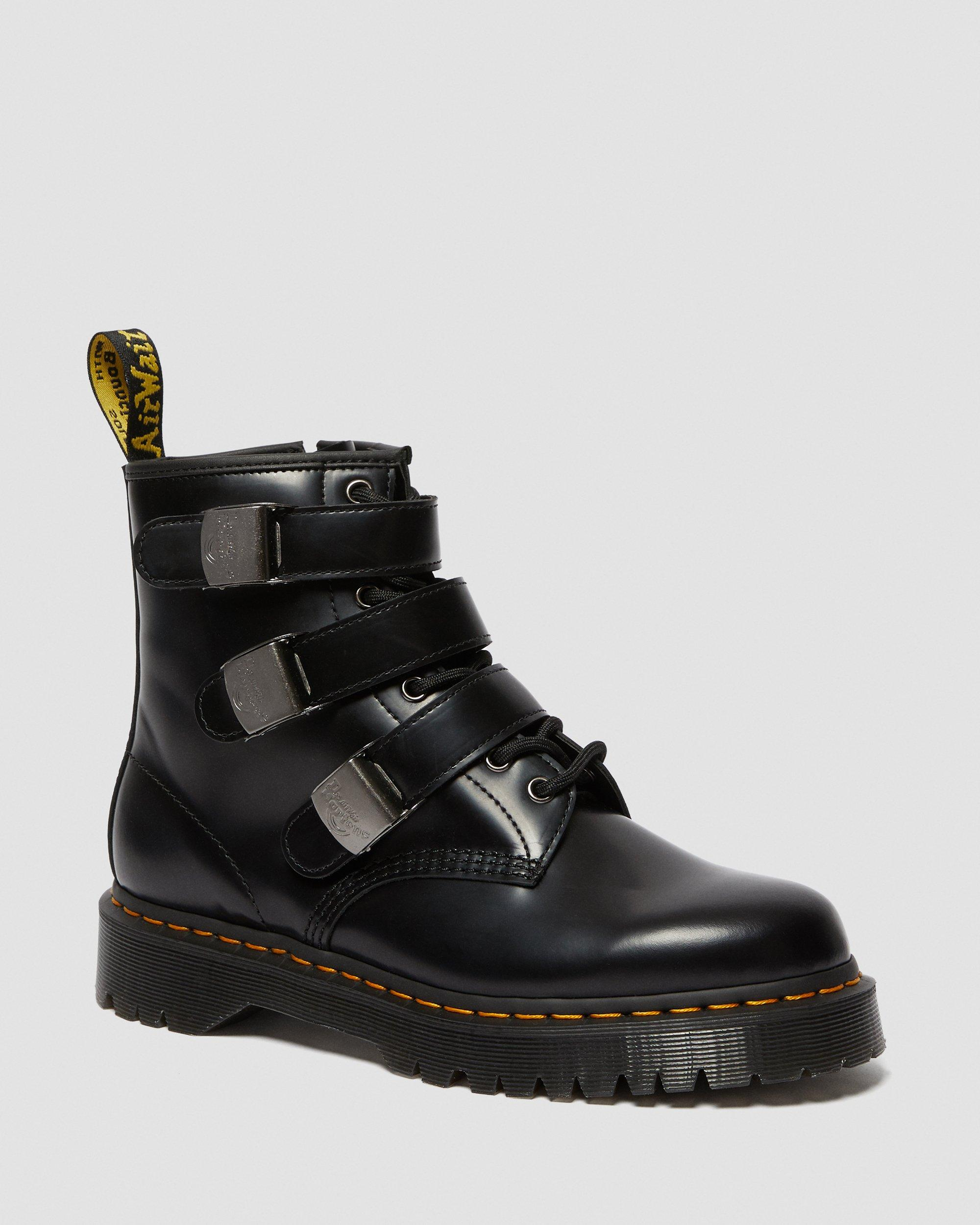 Boys Buckle My Shoe Black Ankle Boots Back to School Slip On Various Sizes