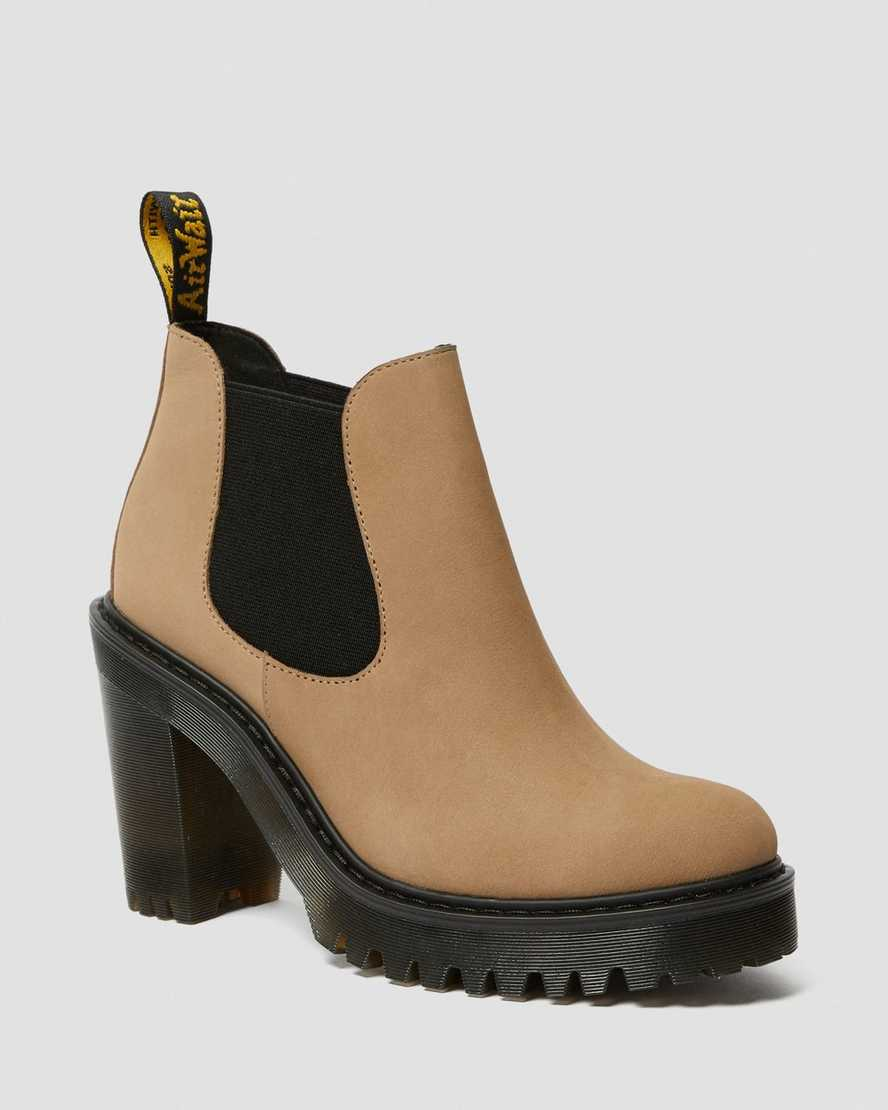 HURSTON WOMEN'S SUEDE HEELED CHELSEA BOOTS | Dr Martens