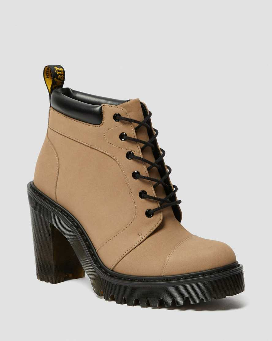 AVERIL WOMEN'S SUEDE HEELED ANKLE BOOTS | Dr Martens