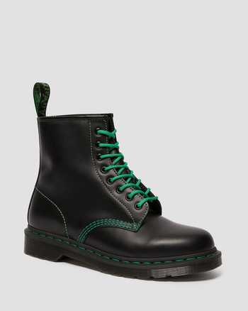 BLACK AND GREEN STITCH | Boots | Dr. Martens