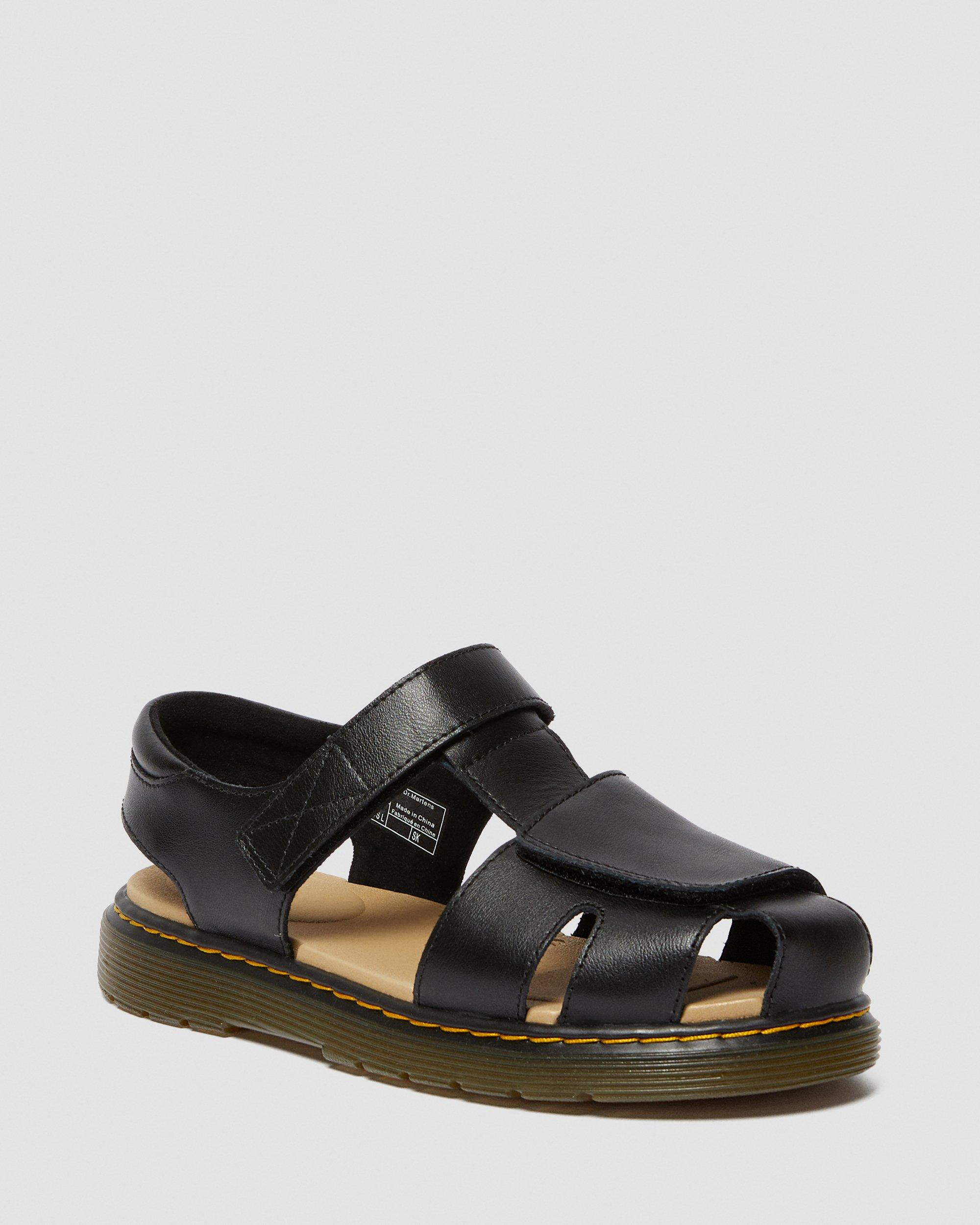 YOUTH MOBY II LEATHER VELCRO SANDALS